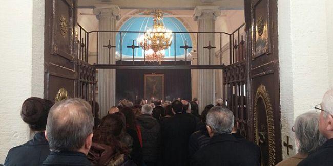 Çanakkale'de ölenler anısına Ermeni Kilisesi'nde ayin