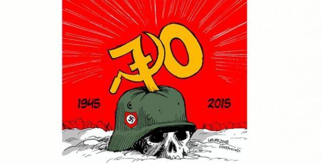 Carlos  Latuff, 9 Mayıs Zafer Günü'nü çizdi