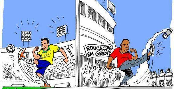 Carlos Latuff Dünya Kupası'nı çizdi