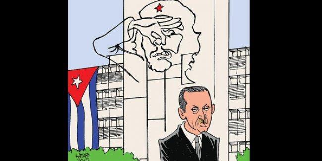 Carlos Latuff, Erdoğan'ın Küba ziyaretini çizdi