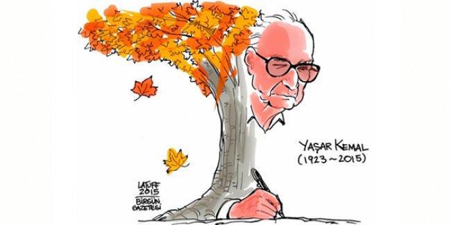 Carlos Latuff Yaşar Kemal'i çizdi