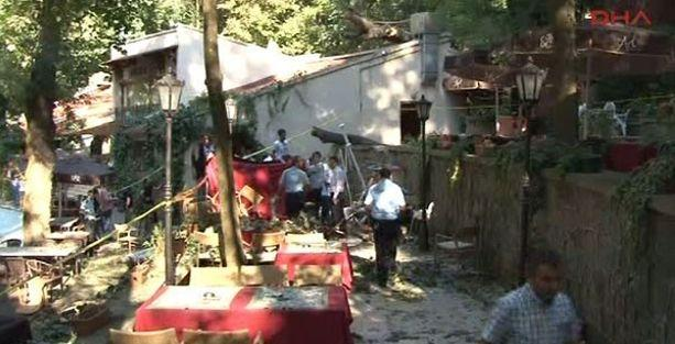 Çay bahçesinde ağaç devrildi: 2 ölü