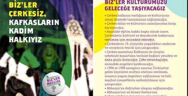Çerkeslerin talepleri HDP broşüründe