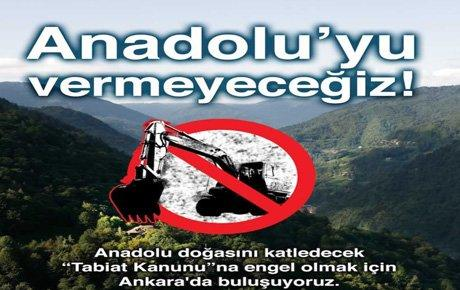 Çevreciler 24 Ocak'ta Ankara'da buluşacaklar