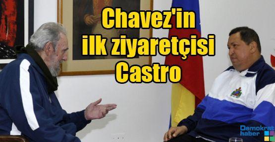 Chavez'in ilk ziyaretçisi Castro