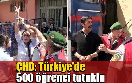 ÇHD: Türkiye'de 500 öğrenci tutuklu
