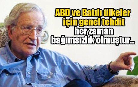 Chomsky: 'Arap dünyası ateş almış, yanıyor'