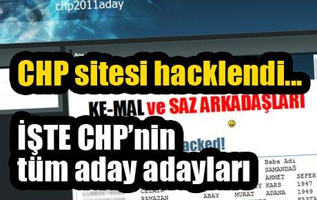 CHP aday adayları tam listesi burada