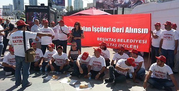 CHP kurultayında BELTAŞ protestosu