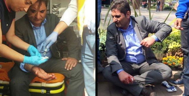 CHP'li vekil polisin gözaltı aracını yumruklarken elinden yaralandı