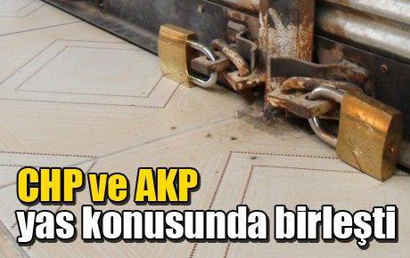CHP ve AKP yas konusunda birleşti