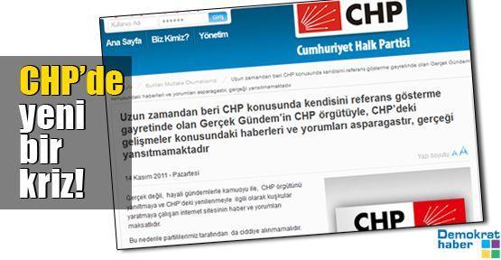 CHP'de yeni bir kriz!