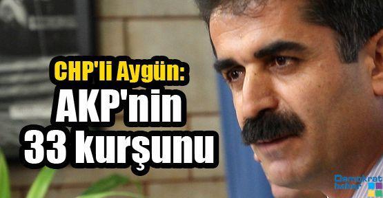 CHP'li Aygün: AKP'nin 33 kurşunu