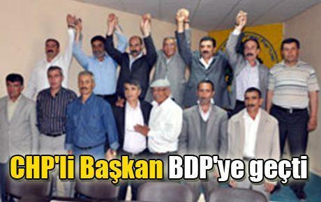 CHP'li Başkan BDP'ye geçti