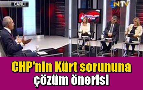 CHP'nin Kürt sorununa çözüm önerisi