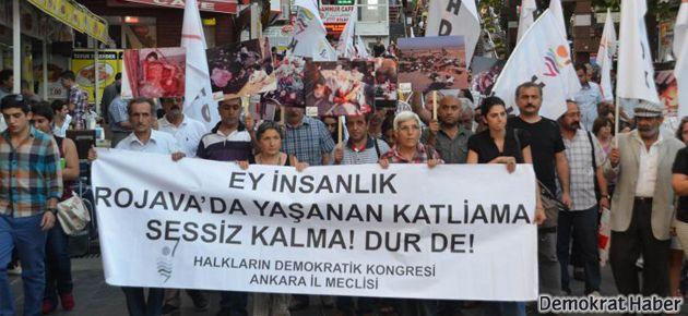 Cizre ve Ankara'da Rojava eylemleri