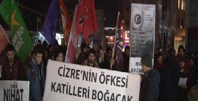 Cizre'de öldürülen 12 yaşındaki Nihat Kazanhan için Taksim'de eylem