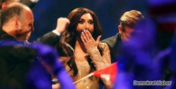 Çok tartışılan Wurst Eurovision'u kazandı!