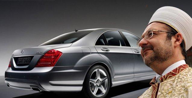 'İbreti alem' sözde kaldı...Diyanet İşleri Başkanı  iftara Mercedes ile gitti