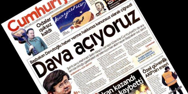 Cumhuriyet Davutoğlu'na 'açık mektup' yazdı; dava açıyor