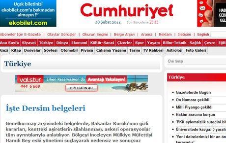 Cumhuriyet Dersim'i bir kez daha bombaladı