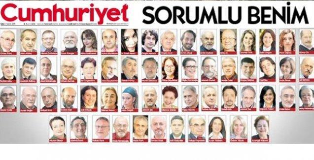 Cumhuriyet yazarları Erdoğan'a karşı tek ses