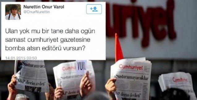 Cumhuriyet'e Ogün Samast'lı  tehdit mesajları