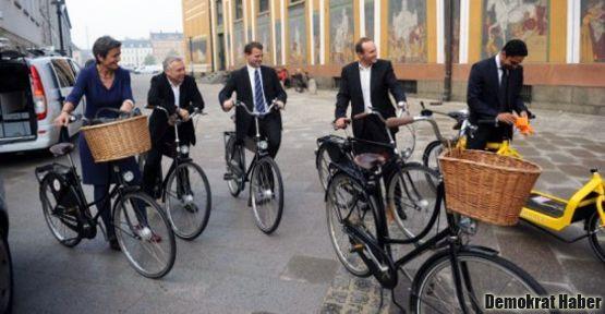Danimarka'da pedallı kabine!