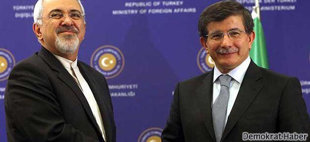 Davutoğlu, İran Dışişleri Bakanı'yla görüştü