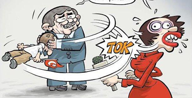 Davutoğlu'nun 'çocuk sevgisi' Uykusuz'un kapağında