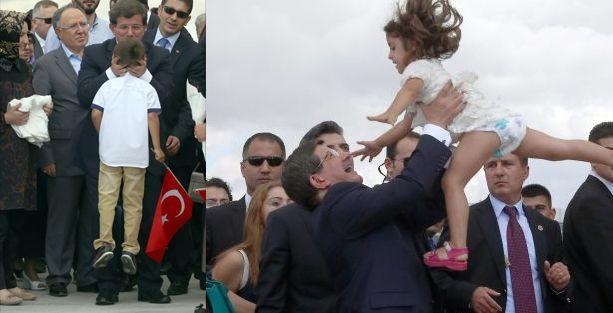 Davutoğlu'nun çocuk sevgisi sosyal medyanın dilinde