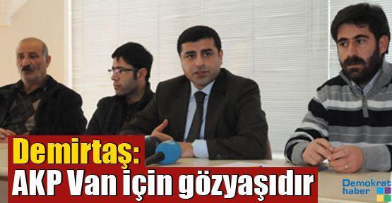 Demirtaş: AKP Van için gözyaşıdır