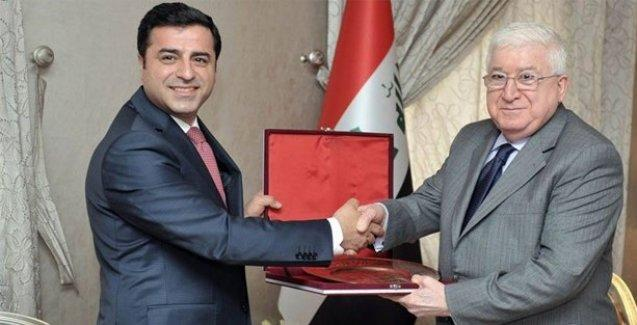 Selahattin Demirtaş, Irak Cumhurbakanı Fuad Masum'la görüştü