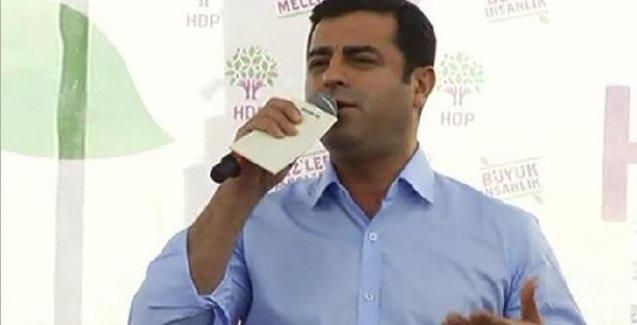 Demirtaş'tan Erdoğan'a: Ben çaldığımı söylüyorum, sen de çaldığını söyle