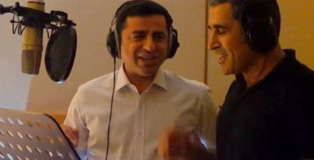 Demirtaş yeni seçim şarkısı için stüdyoya girdi