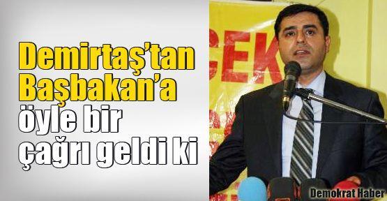 Demirtaş'tan Başbakan'a öyle bir çağrı geldi ki