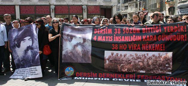 Dersim katliamı anıldı; Taksim'e yürüyüşe ise izin verilmedi