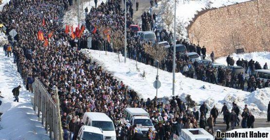 Dersim'de binlerce kişi Cansız için yürüyor