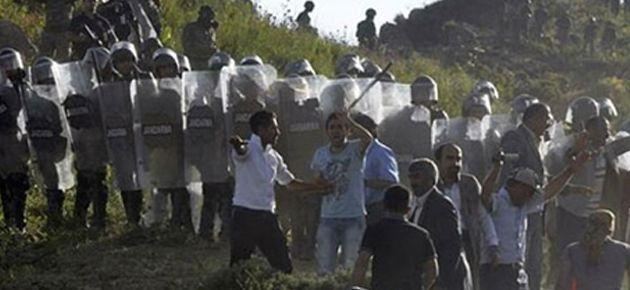 Dersim'de kalekol protestosuna müdahale