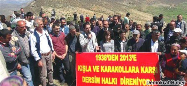 Dersim'de tarihi alana karakol yapımı protesto edildi