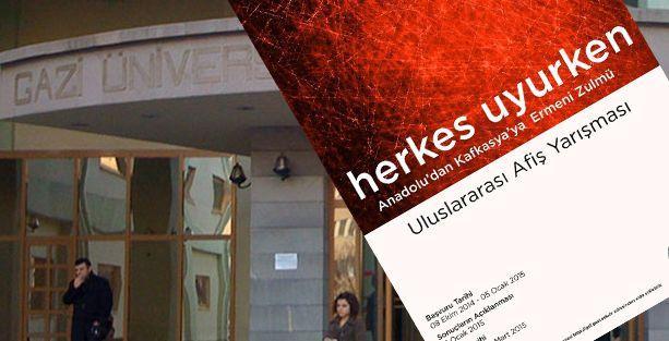 Devlet Üniversitesi'nden 'Ermenilerin zalimliği' afiş yarışması!