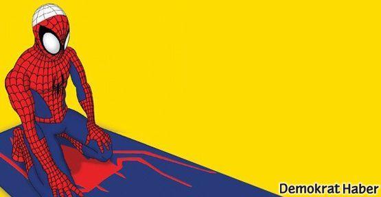 Din Kültürü dersinde Spiderman'e namaz kıldırdılar