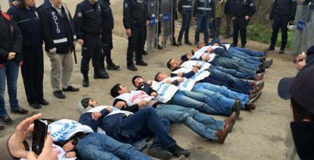 Direnişteki Nestle işçileri gözaltına alındı