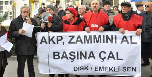 Tüm Emekliler Sendikası maaş zamlarını protesto etti