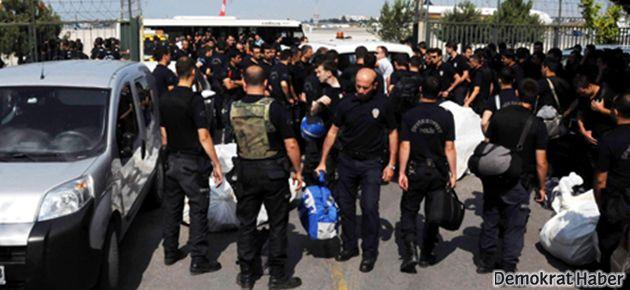 Diyarbakır, Şırnak ve diğer illerden Taksim'e binlerce polis