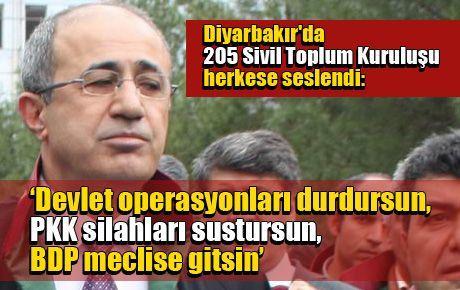 Diyarbakır'da 205 Sivil Toplum Kuruluşu herkese seslendi…