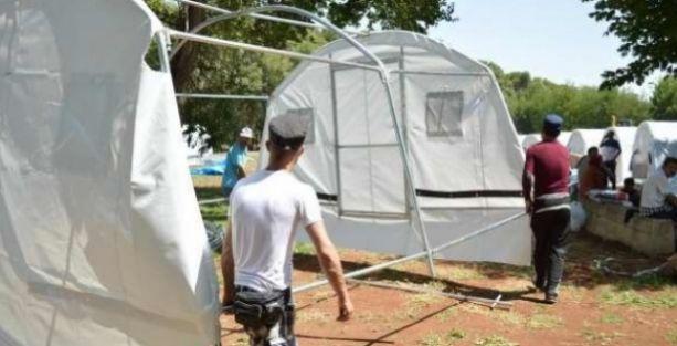 Diyarbakır'da Ezidiler için çadır kent kuruluyor