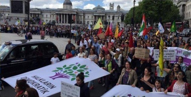 Diyarbakır'daki bombalı saldırı Londra'da protesto edildi