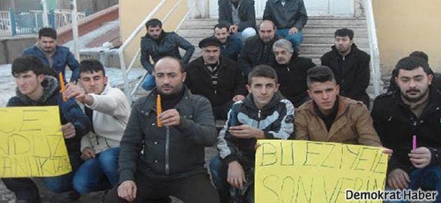 Doğubayazıt'ta mumlu protesto
