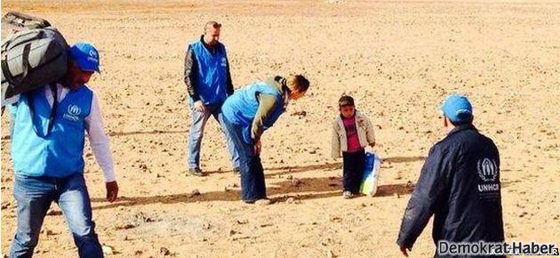 Dört yaşındaki Suriyeli mülteci